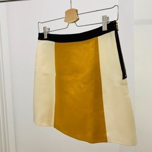 Dresses & Skirts - Two Toned Mini Skirt - off white and mustard